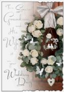 Grandson & Wife Wedding Card